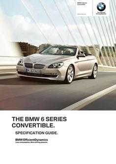 BMW 6 Series Convertible Specification Guide 2014