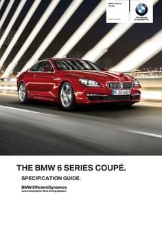 BMW 6 Series Coupe Specification Guide 2014