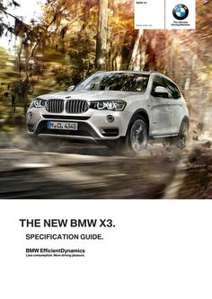 BMW X3 Specification Guide 2014