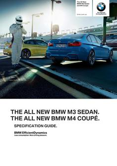 BMW M3 Sedan & M4 Coupe Spec Guide 2014