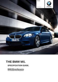 BMW M5 Spec Guide 2014