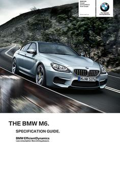 BMW M6 Spec Guide 2014