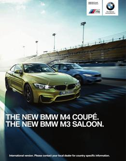 The new BMW M4 Coupe & BMW M3 Saloon 2014