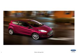 Ford Fiesta Pricelist 2014