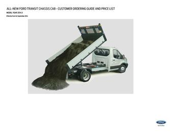 All-New Transit Chassis Cab Pricelist 2014
