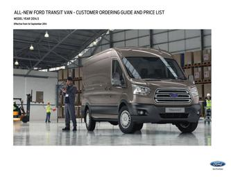 All-New Transit Van Pricelist 2014