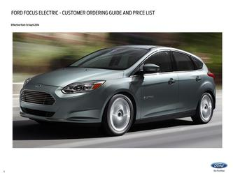 Focus Electric Pricelist 2014