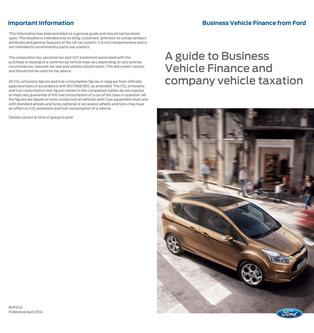 A guide to Business Vehicle Finance and company vehicle taxation 2014