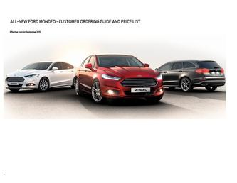 All-New Mondeo Prices May 2015