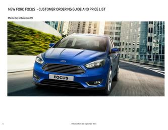 New Focus Prices September 2015