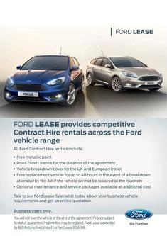 Ford Lease Business Vehicle Finance Promotions 2015