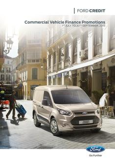 Ford Credit Commercial Vehicle Finance Promotions 2015
