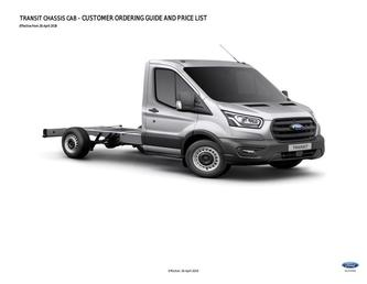Transit Chassis Cab Pricelist April 2019