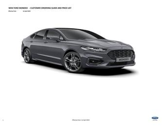 Mondeo Price List April 2019