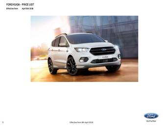 Kuga Price List April 2019