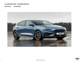 All-New Focus Pricelist April 2019