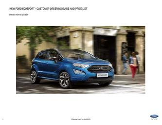 EcoSport Pricelist April 2019
