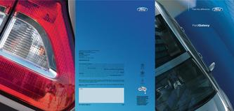 Ford Galaxy Brochure 2007