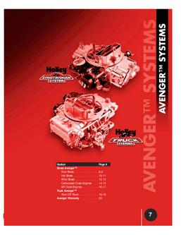 Avenger Systems & Carburetion