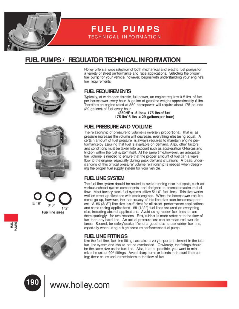 Holley Fuel Pump Diagram Mercruiser Pumps Performance Products Inc Cylinder Mechanical