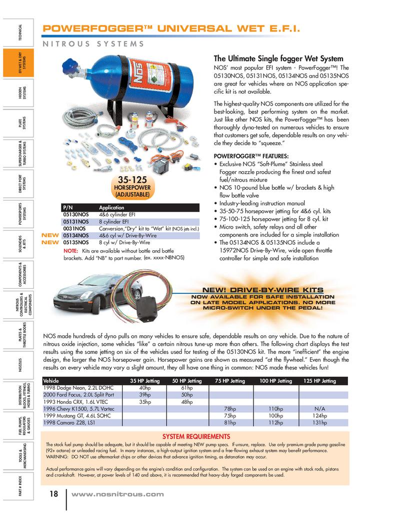 Page 3 Of Nos Nitrous Systems Relay Wiring Diagram By Holley Performance Products Inc