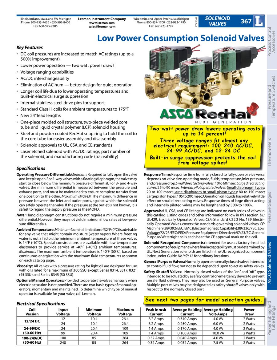 Asco Solenoid Valves By Lesman Instrument Company Limit Switch Wiring Diagram