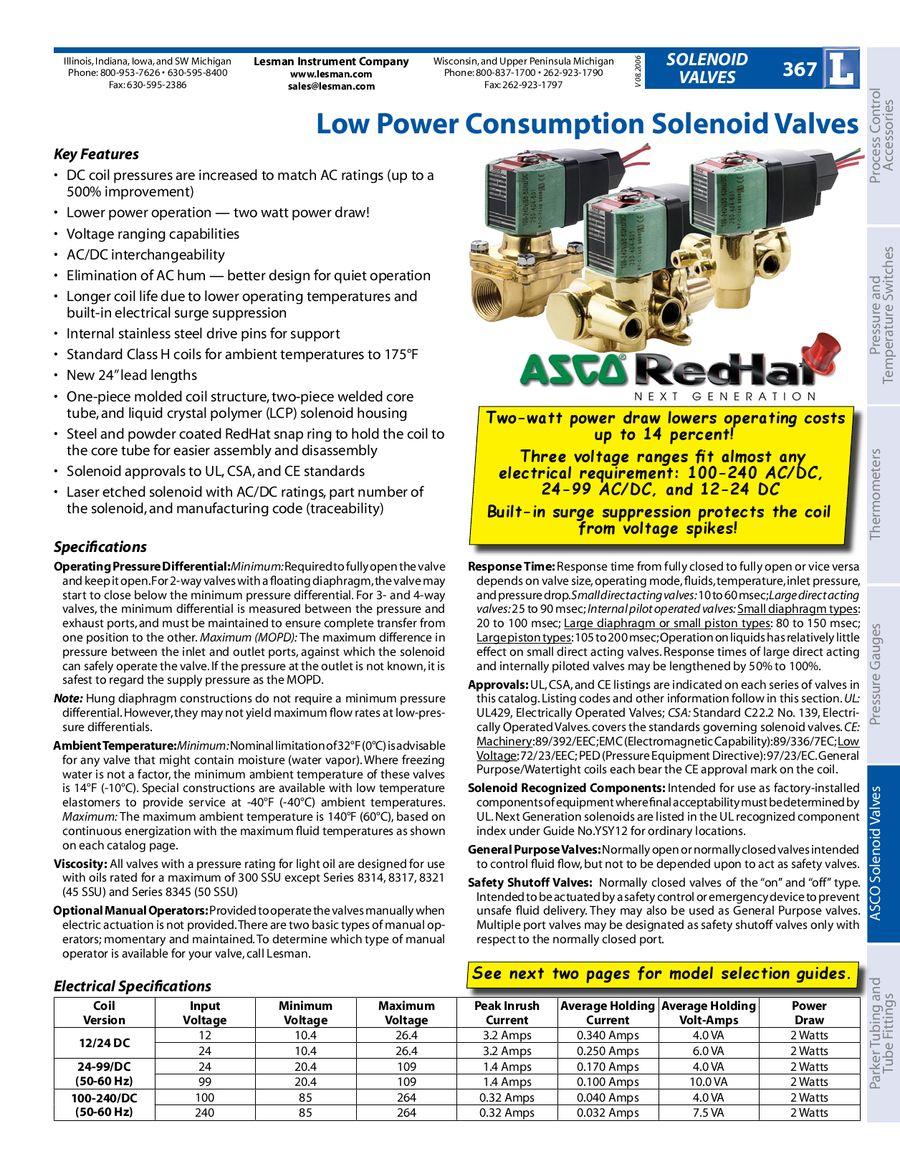 asco solenoid valves by lesman instrument companyasco 8290 wiring diagram  #20