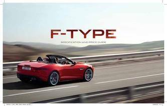 Jaguar F-TYPE specification and price guide 2013