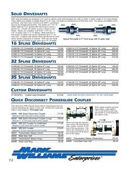 Solid DriveShafts, Powerglide Coupler