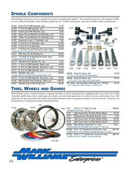 Spindle Components, Tires Wheels & Guards