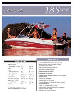 2006 sea ray convertible top tonneau cover in Sea Ray 185
