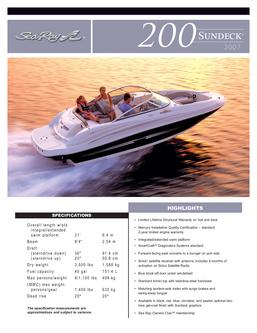 Sea Ray 200 Sundeck 2007