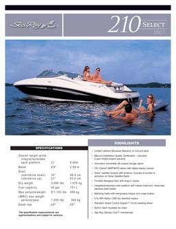 Sea Ray 210 Select 2007