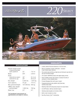 Sea Ray 220 Select 2007