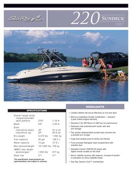 Sea Ray 220 Sundeck 2007
