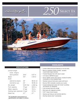 Sea Ray 250 Select EX 2007