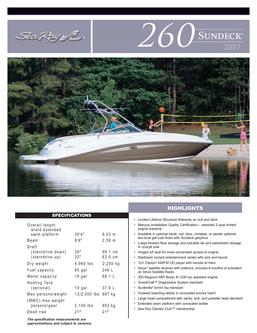 Sea Ray 260 Sundeck 2007