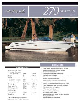 Sea Ray 270 Select Ex 2007