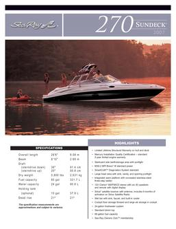 Sea Ray 270 Sundeck 2007