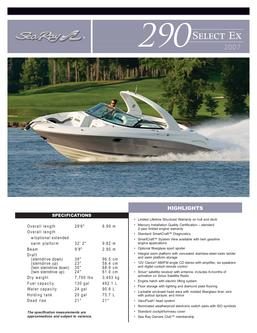 Sea Ray 290 Select EX 2007