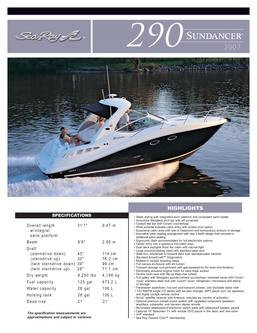 Sea Ray 290 Sundancer 2007