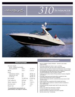 Sea Ray 310 Sundancer 2007
