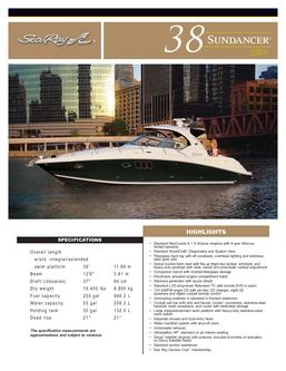 Sea Ray 38 Sundancer 2007