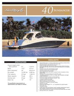 Sea Ray 40 Sundancer 2007