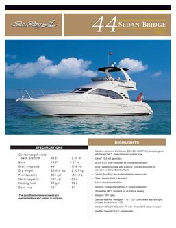 Catalogue: Hutchinson's Boat Works, Inc. Sea Ray 44 Sedan Bridge 2007