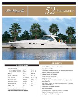 Sea Ray 52 Sundancer 2007