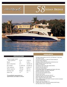 Sea Ray 58 Sedan Bridge 2007