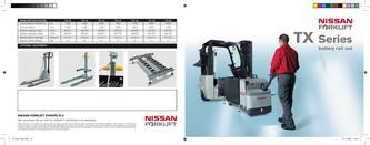 Nissan Forklift TX Series Battery Roll Out