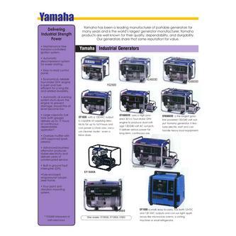 Yamaha generators by genex power equipment for Ef600 yamaha generator