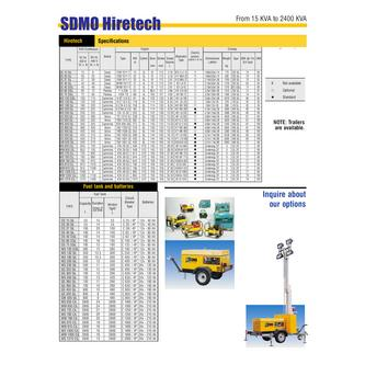 SDMO Hiretech Specifications